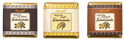 felMA Belgische chocolade-Tfelchen, in ronddoosje