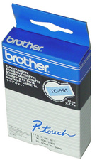 Brother TC-Tape TC-201A labeltape breedte: 12mm