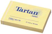 Tartan Notes zelfklevende memoblaadjes 102 x 76 mm felgeel
