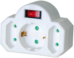 Brennenstuhl Adapterstekker 2 Euro-1 beschermingcontactstekker