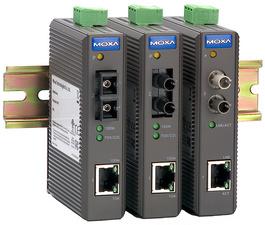MOXA Industrial Ethernet media converter,zonder Alarmfunctie