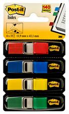 3M Post-it Index Mini Design dispenser 4 verf a 35 stuks