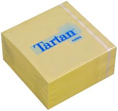 Tartan krachtnotitie blok 76 x 76 mm geel 400 blad