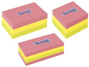 Tartan Notes zelfklevende memoblaadjes 127 x 76 mm Neon 100 blad/blok