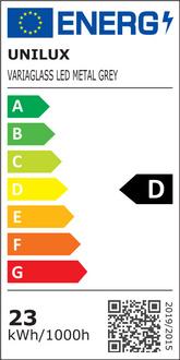 unilux Energiesparlamp VARIAGLASS kleur: metaalgrijs