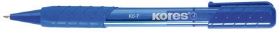 Kores balpen met drukknop K-PEN K6 blauw M