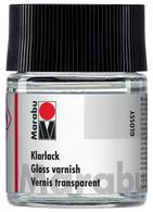 Marabu transparantlak hoog glanzend 50 ml in glas