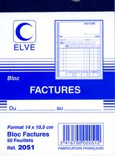 Elve blok factures 140 x 105 mm 50 vel