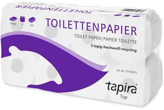 toiletpapier 2-laags wit gerecycled grootverpakking