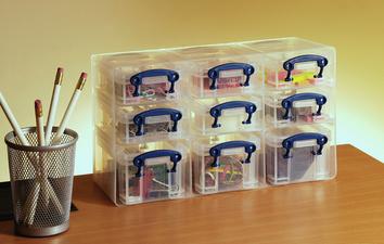 Really Useful Box 9er bewaardoos, transparant klar