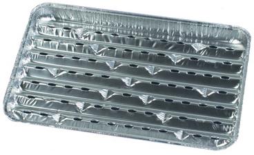 PAPSTAR aluminium-Grillpan hoekig