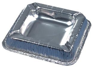 PAPSTAR aluminium-Aschenbeker vierkant