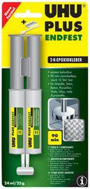 UHU 2-componenten-lijm plus muurvast 163 g in tube