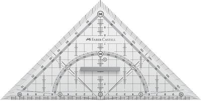 Faber-Castell Geodriehoek GRIP groot met grip