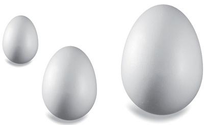 KNORR prandell Styroporei, hoogte: 60 mm, wit