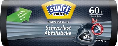 swirl Profi Schwerlast-afvalzak, zwart, 120 Liter