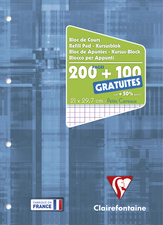 Bloc de cours A4 200pages + 50 GRATUITES S'yŠs Perfo 4 trous