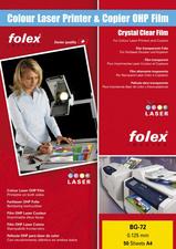 FOLEX Color-Laserfolie BG-72, DIN A4, transparant