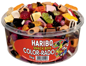 HARIBO winegums COLOR-RADO, 1 kg Dose