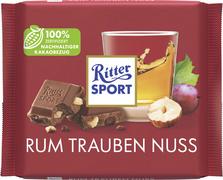Ritter SPORT chocoladereep RUM TRAUBEN NUSS, 100 g