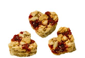 HELLMA Msli-harten Cranberry, in Karton