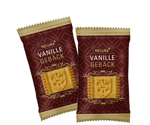 HELLMA Edles Bakken Vanille, einzeln verpakt, in Karton