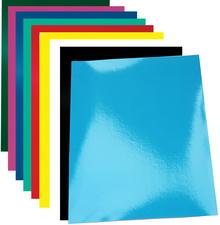 pavo dekblad Chromolux, glanzend, DIN A4, felblauw