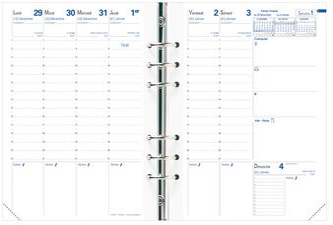 QUO VADIS navulling pour organiseur Timer 21 Planing, 2018