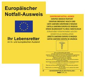 "RNK Europ""ischer Notfallausweis, 105 x 75 mm, in display"