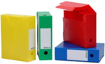 Extendos archiefdoos, PP, 100 mm, assorti kleuren