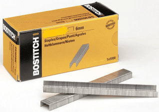 Bostitch nietjes STCR 2619 1/4, 6 mm, verzinkt